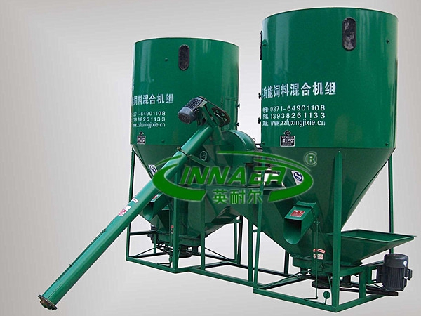 Vertical feed mixing crushed machine